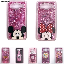 Liquid Water Case for Samsung Galaxy 2015 2016 2017 A3 A5 J1 J3 J5 J7 Minnie Mickey Bottle Princess Ice Cream Flowers TPU Cover(China)