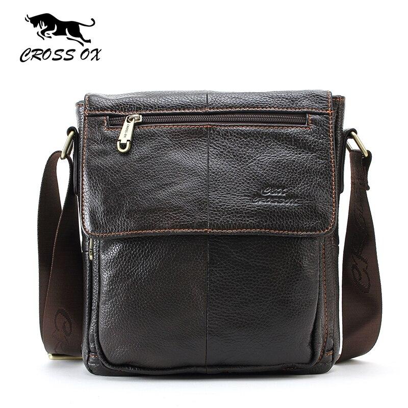 CROSS OX Genuine Leather Handbags For Men Fashion Shoulder bag For Business &amp; Casual Briefcase Bags Mens Messenger Bag SL232M<br>