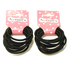 Hot Sale Headwear ,Simple, Black, Children's Rubber Band,High Quality Fashion Elastic Hair Bands For Girls A187