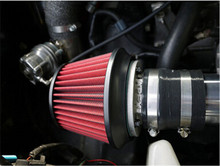 Universal 76mm Air Intake Air Filter Car Truck SUV Universal Cold Kits Washable Red Color