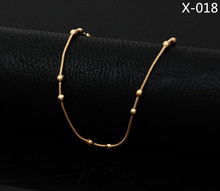 2016 simple Barefoot Beach Chain Foot Toe Chain Beads 18k Gold Anklet Ankle Bracelet chain cheville Women tornozeleira 018