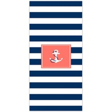 Modern Design Polyester Beach Towel Bath Towel Classic Simple blue and white stripes and anchor fashion kids adult bath towel