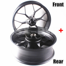 Black Motorcycle Front And Rear Wheel Rim  For Honda CBR1000RR 2012 2013 2014 Steel Aluminum Alloy Moto Accessories