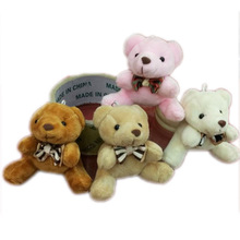 12pcs x 2.8inch Plush Teddy Bears Small Tiny Miniature Doll House Craft  Sitting Bear With Bow