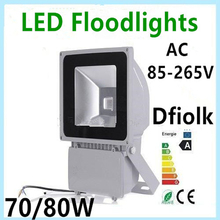 LED Spotlight 70 W 80 W 100 W AC85-265V IP65 waterproof floodlight outdoor lighting Free Shipping(China)