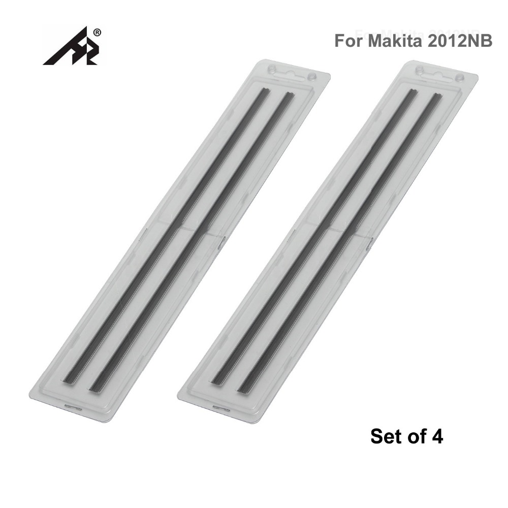 HZ 12 Wood HSS Reversible Planer knife blades 793346-8 For Makita 2012NB 2012 - Double Edged - Set of 4<br>