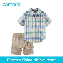 Carter's 2pcs baby children kids 2-Piece Plaid Button-Front & Cargo Short Set 229G412,sold by Carter's China official store