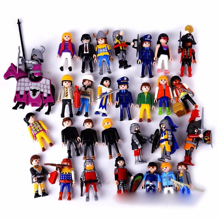 7.5CM 10Pcs Cartoon Toy Playmobil Kids ChildrenS Birthday Christmas Gift Action Figure PVC Retro Boy Girl Model Toy<br><br>Aliexpress