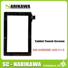 Free shipping touch screen digitizer glass touch panel for Freelander PD10 PD20 tablet pc code 300-N3690B-A00-V1.0