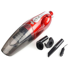 Dry/Wet 80W DC12V Vacuum Cleaner Dual Function Car Vacuum Red colors Cleaner With Double Filter And Super Strong Suction