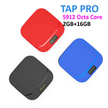 5pcs 2017 New Arrival TAP PRO Amlogic S912 Android 6.0 2GB DDR3 Flash 16GB 1000M Lan 4K Ultra HD Media Player TV Box