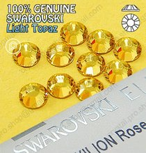 ss34 GENUINE Swarovski Elements Light Topaz (226) 72 pcs 34ss ( No-hotfix rhinestones)(Hong Kong)