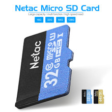 Original Netac Micro SD Card Class 10 16GB 32GB 64GB 128GB UHS-I Flash Memory Card Microsd Card for Smartphone Camera MP3 Player