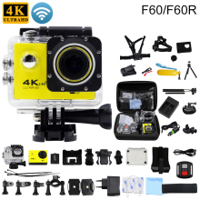 F60/F60R Original Action camera 4K/30fps 16MP WiFi 170D Helmet Cam underwater go waterproof pro Diving tourism Sports camera