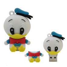 Pendrive 128GB duck Flash Drive Memory Stick/thumb 4gb 8g 16g 32g 64g flash 2.0 pen drive tiny external storage U Disk 16 gb