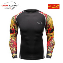 Buy Men Compression Shirts MMA Rashguard Keep Fit Fitness Long Sleeves Base Layer Skin Tight Weight Lifting Elastic Mens T Shirts for $7.85 in AliExpress store