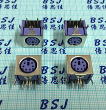 50pcs S Terminal Connector Female Socket for Keyboard 6 Core PS2 6P Terminal full Cover Socket High Quality(China)