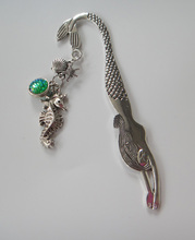 1pc antique silver mermaid bookmark for Mermaid Jewelry Gifts(China)