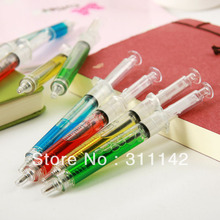 Hotsale! 6 Colors Syringe pen/Ball pen/ Promotional injection pen