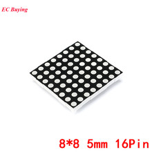 8x8 5mm Dot Matrix 8*8 16Pin Digital Tube Red Common Anode LED Display DIY Electronic Module 2088BS For Arduino(China)