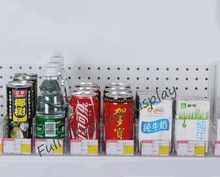 28CM Fashion supermarket/store clear plastic Cigarrette display shelves holder Drinks Tobacco display stand rack pushers 20pcs