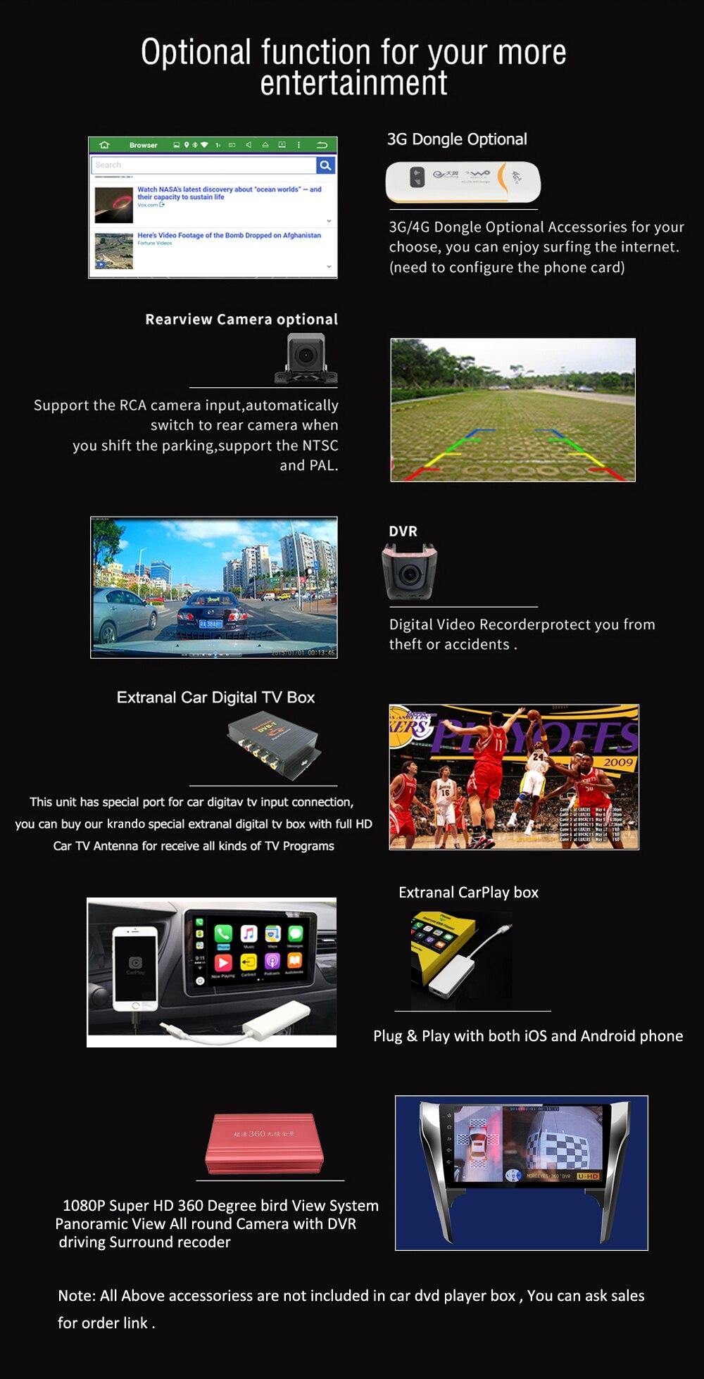 krando car navigation radio player system