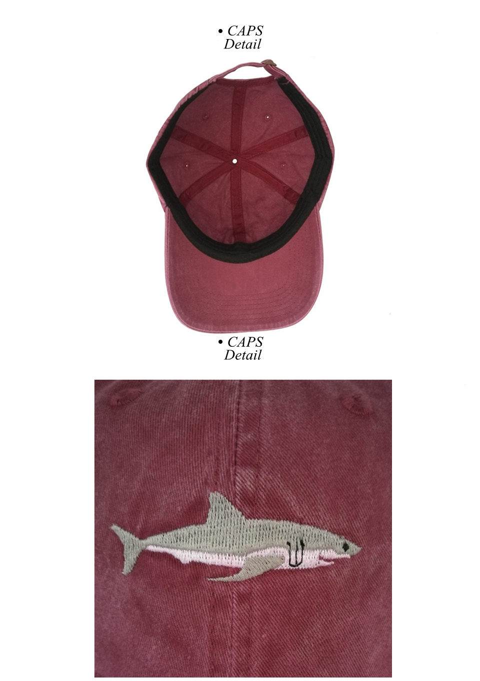 "Shark Cap"" Shark Snapback Cap for Men/Women 6"