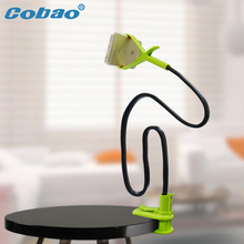 Cobao universal long arm lazy bed desk phone holder stand flexible mount holder suitable for Iphone 5 5S 6 6S plus Samsung