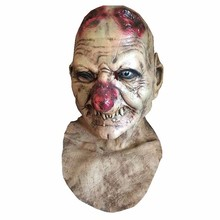 New Horror Halloween Cosplay Costume Bloody Zombie Mask Melting Full Face Walking Dead Scary Carnival Mardi Gras Party Masks toy