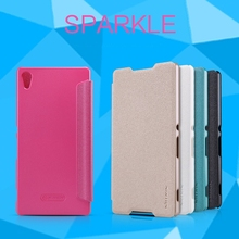 NILLKIN Brand Sparkle Super Flip Cover Leather Case for Sony XPERIA Z4 Z3+ Smart Sleep Wake Function Phone Case
