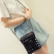 Spring And Summer Mini Chain Shoulder Or Messenger Bag Personal Fashionable Stylish Women Bag New Collection Moblie Phone Bag(China)