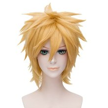NARUTO Uzumaki Naruto Short Layers Anime Cosplay Hair Wig (Blonde)