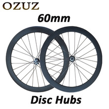 Buy OZUZ 700C 60mm Depth Clincher Tubular 3K Matte Glossy Full Carbon Fiber Wheels Road Bike Bicycle Disc Brake Hubs Racing Wheelset for $730.00 in AliExpress store
