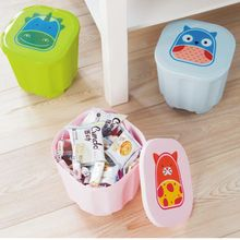 1PC Cartoon can be superimposed children 's toys storage stool children' s chair storage box