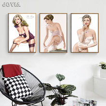 3 Piece Underwear Model Art Canvas Prints Home Decoration Wall Picture Retro Fashion Western Women Sexy Legs Painting No Frame