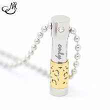 10pcs/lots 316L Stainless Steel Only Lover Perfume Bottle Necklaces & Pendants for Women Men Perfume Container Pendant Necklaces