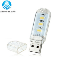 1pcs USB Night Lights Mini Lamp Computer Desk Bulbs /Mobile Power/ Power Bank charging LED Tube Keyboard Notebook Reading Light(China)