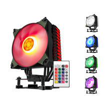 Aigo CPU Cooler K4 , radiator come with one RGB fan and controller , CPU Radiator , CPU Fans , remote control,