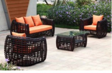 2017 newest PE rattan sofa with powder coated aluminum frame furniture(China)