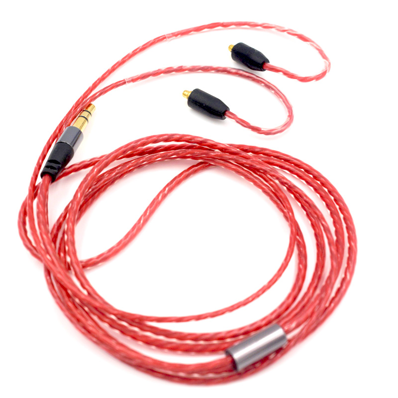 RED COLOR EARPHONE CABLE FOR SHURE AND FOR TENNMAK
