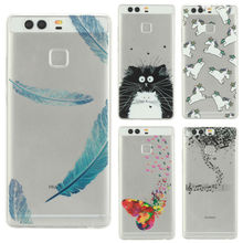 EKONE Ultrathin Phone Case For Huawei P9 Lite Case Watercolor Music Food Unicorn Cover For Huawei P9 Lite Case Huawei P9 Coque
