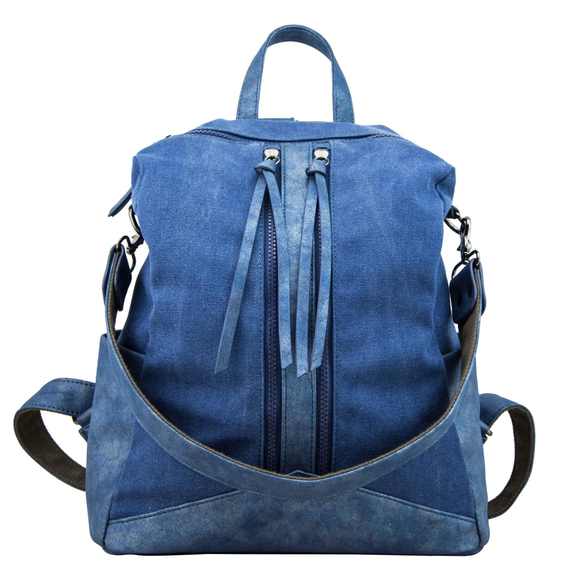 Women Canvas Backpacks for Teenage Girls Shoulder Bag Drawstring Backpack Jeans for Teenage New Solid School Rucksacks Dual Use<br>