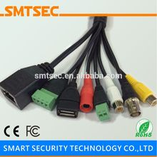 SMTSEC SIP-E-UG Cable UG RJ45+BNC+DC+USB+Audio Input+Audio Output +RS485+Alarm for SIP-E Series IP Camera Module Double Board