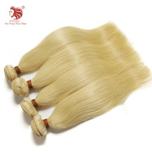 1pcs/lot grade 6a European remy human hair extensions 12''-30'' 100% no tangle no shedding light blonde straight hair weaves