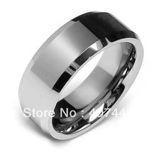 Buy USA Brazil Russia Hot Sales 8mm High Polish Beveled Edge Tungsten Carbide Ring Mens Wedding Band - E&C Super Fashion Jewelry Store (-ratail store)