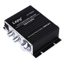 Genuine Lepy LP-2020A HiFi Digital Mini Audio Stereo Amplifiers 20Wx2 Home Car Amplifier EU PLUG