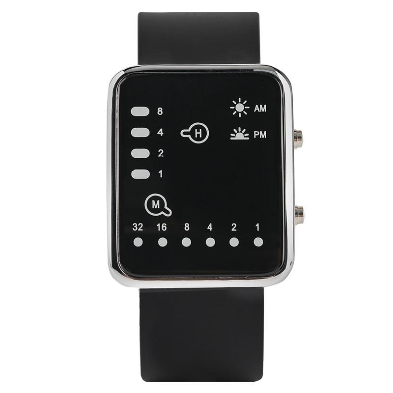 Cool LED Binary Watch Blue Backlight Fashion Men Women Geek Digital Wristwatch Soft Black Silicone Band Sport Watches Army Clock (1)
