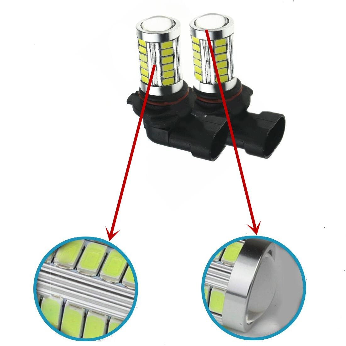 2x 9006/HB4 LED Daylight White Car LED Fog Driving Lights Auto Daytime Running Lights Clearance Lamp For BMW E60 E63 E64<br><br>Aliexpress