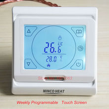 230V underfloor 16a LCD programmable touch screeen digital heating thermostat room temperature controller for heating systems