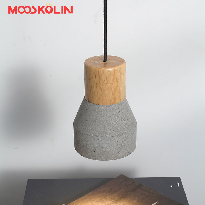 Loft Vintage Pendant Light Retro Wood Cement Shade Pendant Lamps For Restaurant Dining Room Corridor Laparas de techo Abajour <br>